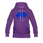 Women's Blue Bison Premium Hoodie - purple
