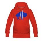 Women's Blue Bison Premium Hoodie - red