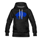 Women's Blue Bison Premium Hoodie - charcoal gray