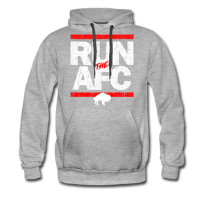 Men's Run The AFC Premium Hoodie - heather gray