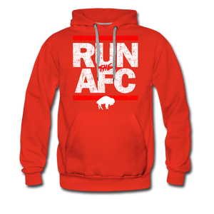 Men's Run The AFC Premium Hoodie - red