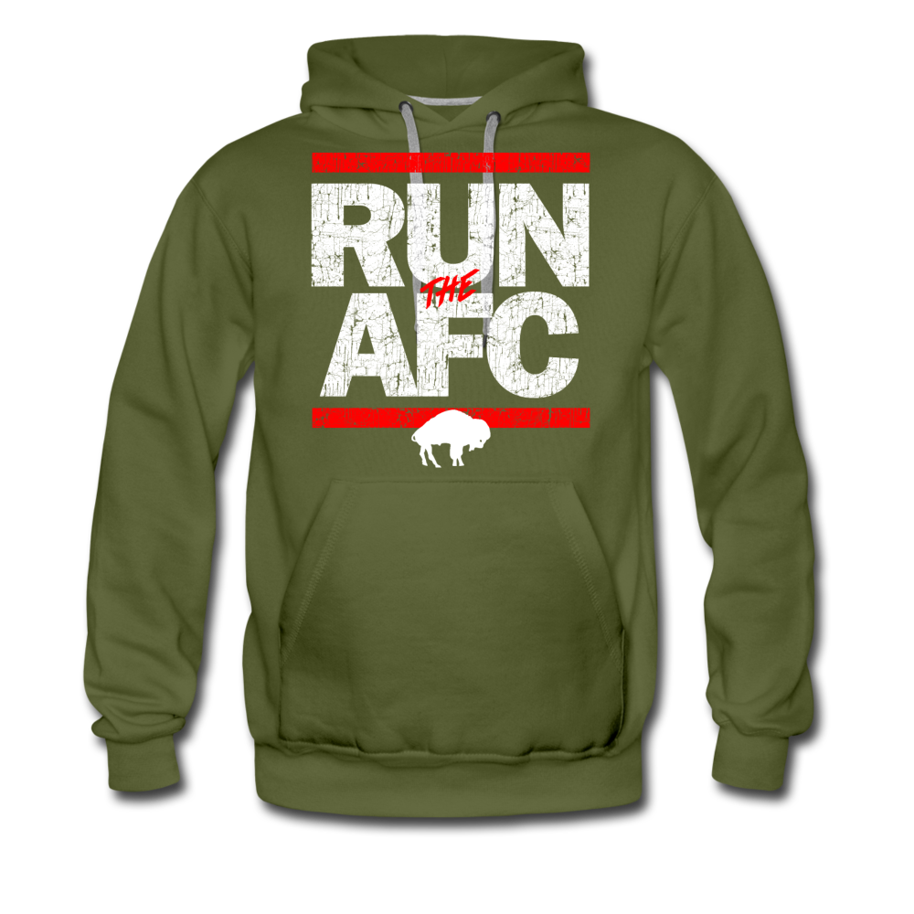 Men's Run The AFC Premium Hoodie - olive green