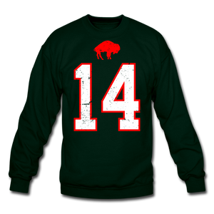 Unisex Diggs Front & Back Crewneck Sweatshirt - forest green