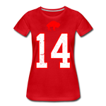 Women's Diggs Front & Back Premium T-Shirt - red