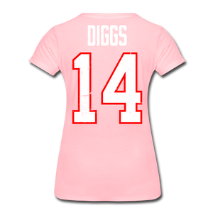 Women's Diggs Front & Back Premium T-Shirt - pink