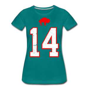 Women's Diggs Front & Back Premium T-Shirt - teal