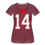 Women's Diggs Front & Back Premium T-Shirt - heather burgundy