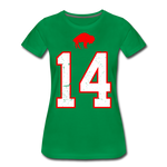 Women's Diggs Front & Back Premium T-Shirt - kelly green