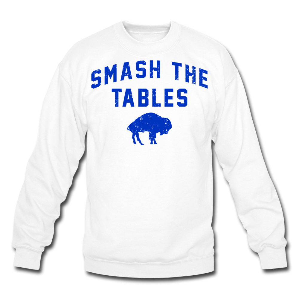 Unisex Tables Crewneck Sweatshirt - white