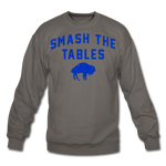 Unisex Tables Crewneck Sweatshirt - asphalt gray