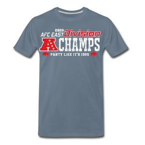 Men's AFC East Premium T-Shirt - steel blue