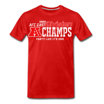 Men's AFC East Premium T-Shirt - red