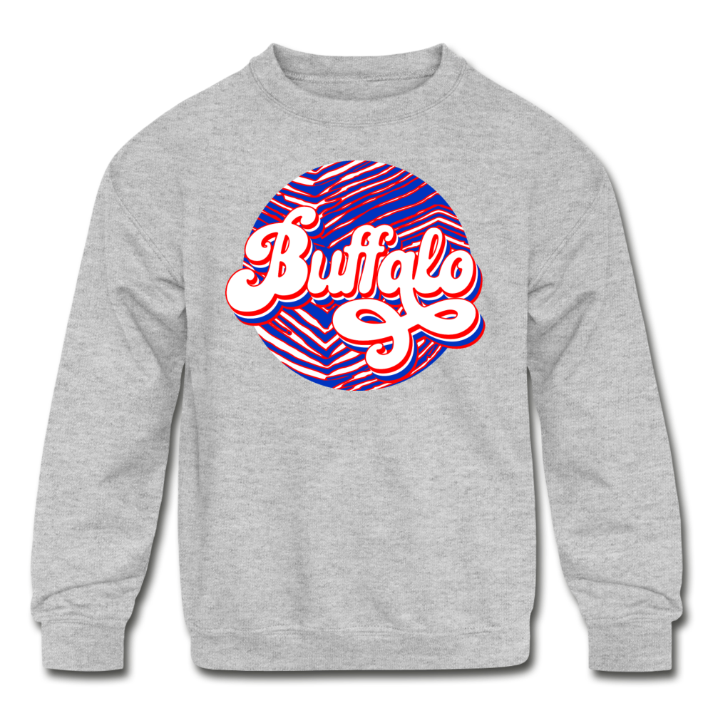 Kids' Zubaz Funk Crewneck Sweatshirt - heather gray