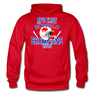 Men's Retro Diamond Hoodie - red