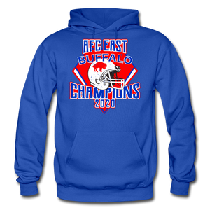 Men's Retro Diamond Hoodie - royal blue