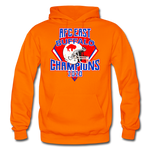 Men's Retro Diamond Hoodie - orange