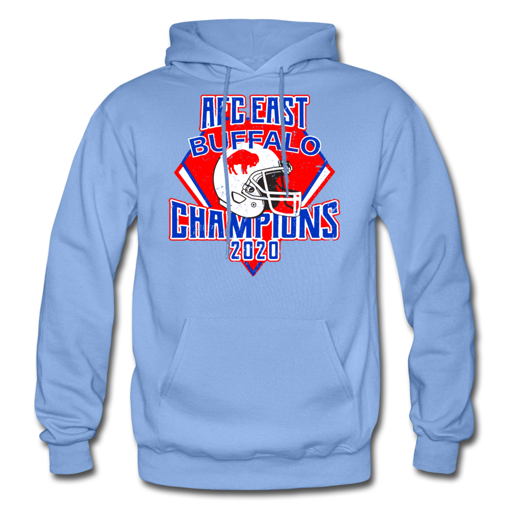 Men's Retro Diamond Hoodie - carolina blue