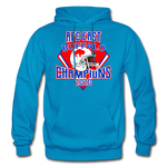 Men's Retro Diamond Hoodie - turquoise