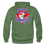 Men's Retro Diamond Hoodie - military green