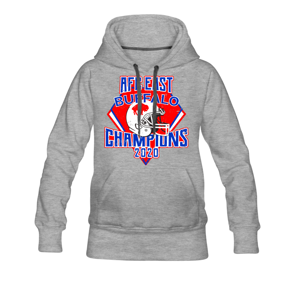 Women's Retro Diamond Premium Hoodie - heather gray