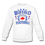 Unisex Retro Football Crewneck Sweatshirt - white