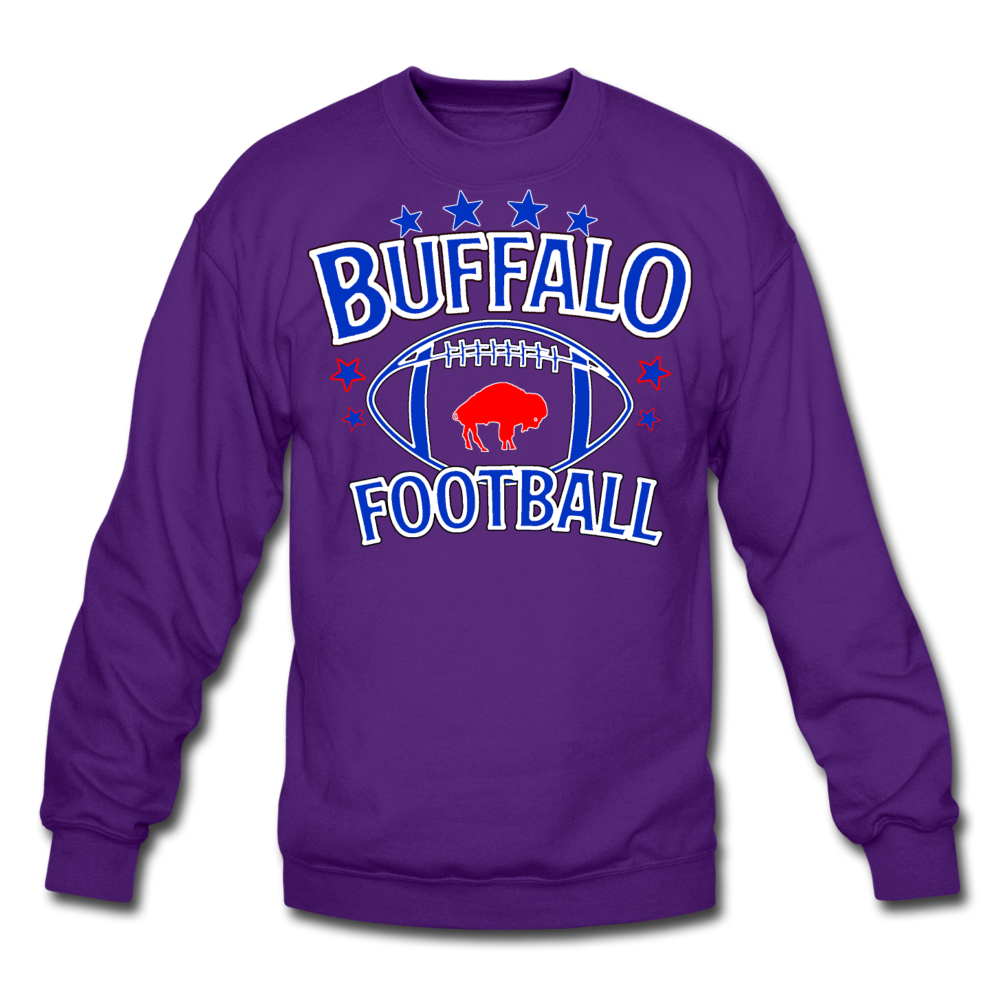 Unisex Retro Football Crewneck Sweatshirt - purple