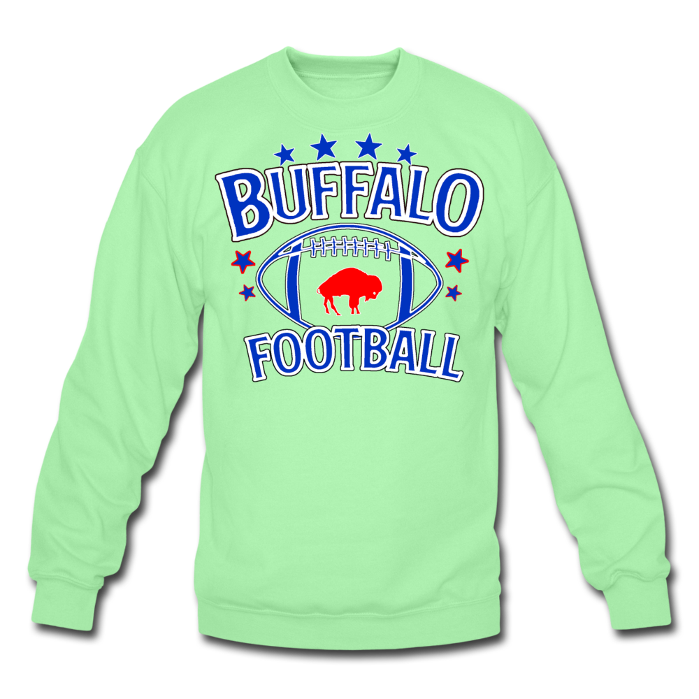 Unisex Retro Football Crewneck Sweatshirt - lime