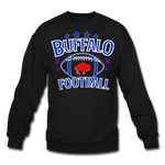 Unisex Retro Football Crewneck Sweatshirt - black
