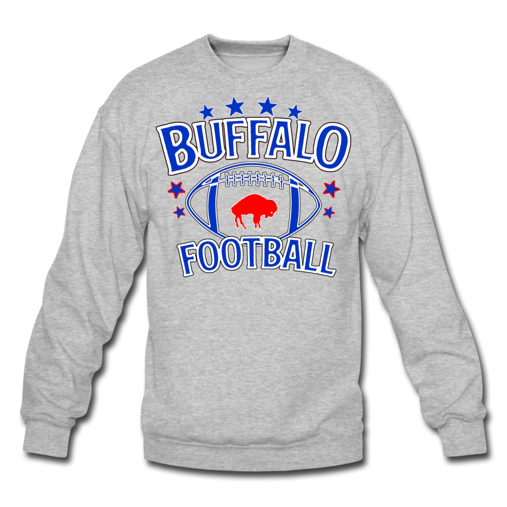 Unisex Retro Football Crewneck Sweatshirt - heather gray