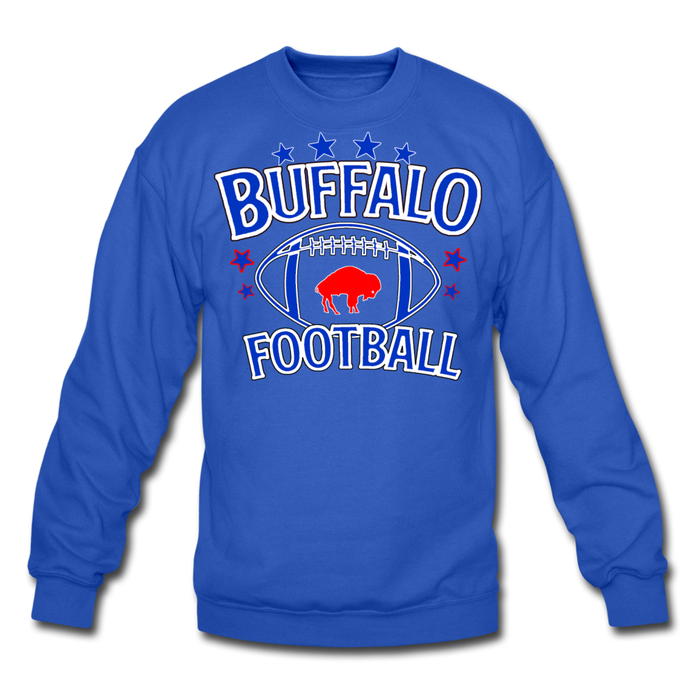Unisex Retro Football Crewneck Sweatshirt - royal blue