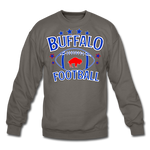 Unisex Retro Football Crewneck Sweatshirt - asphalt gray