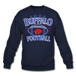 Unisex Retro Football Crewneck Sweatshirt - navy