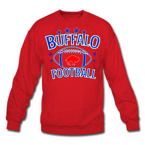 Unisex Retro Football Crewneck Sweatshirt - red