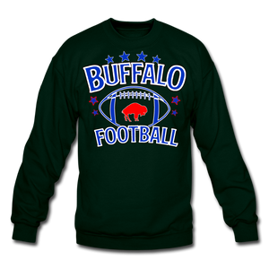 Unisex Retro Football Crewneck Sweatshirt - forest green