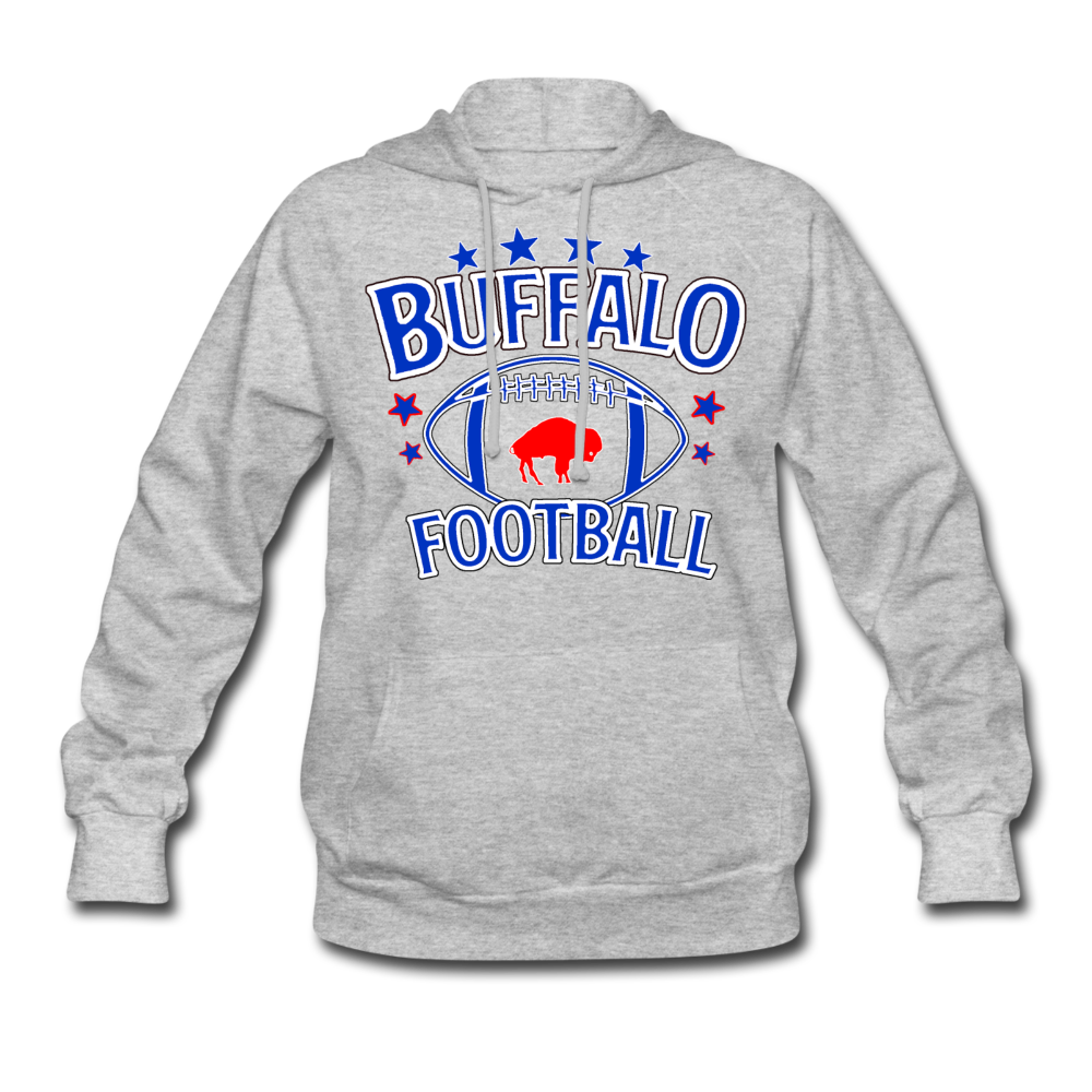 Women's Retro Football Hoodie - heather gray