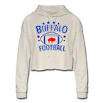 Women's Retro Football Cropped Hoodie - dust