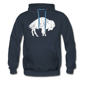 Men's White Bison Premium Hoodie - navy