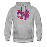 Men's Wutang Zubaz Premium Hoodie - heather gray