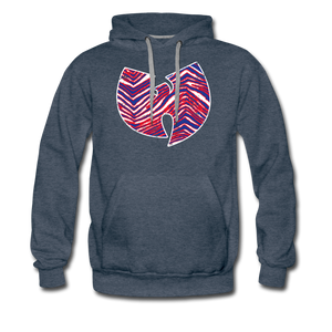 Men's Wutang Zubaz Premium Hoodie - heather denim