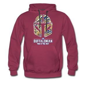 Men's Buffalonian Hockey Premium Hoodie - burgundy