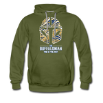 Men's Buffalonian Hockey Premium Hoodie - olive green
