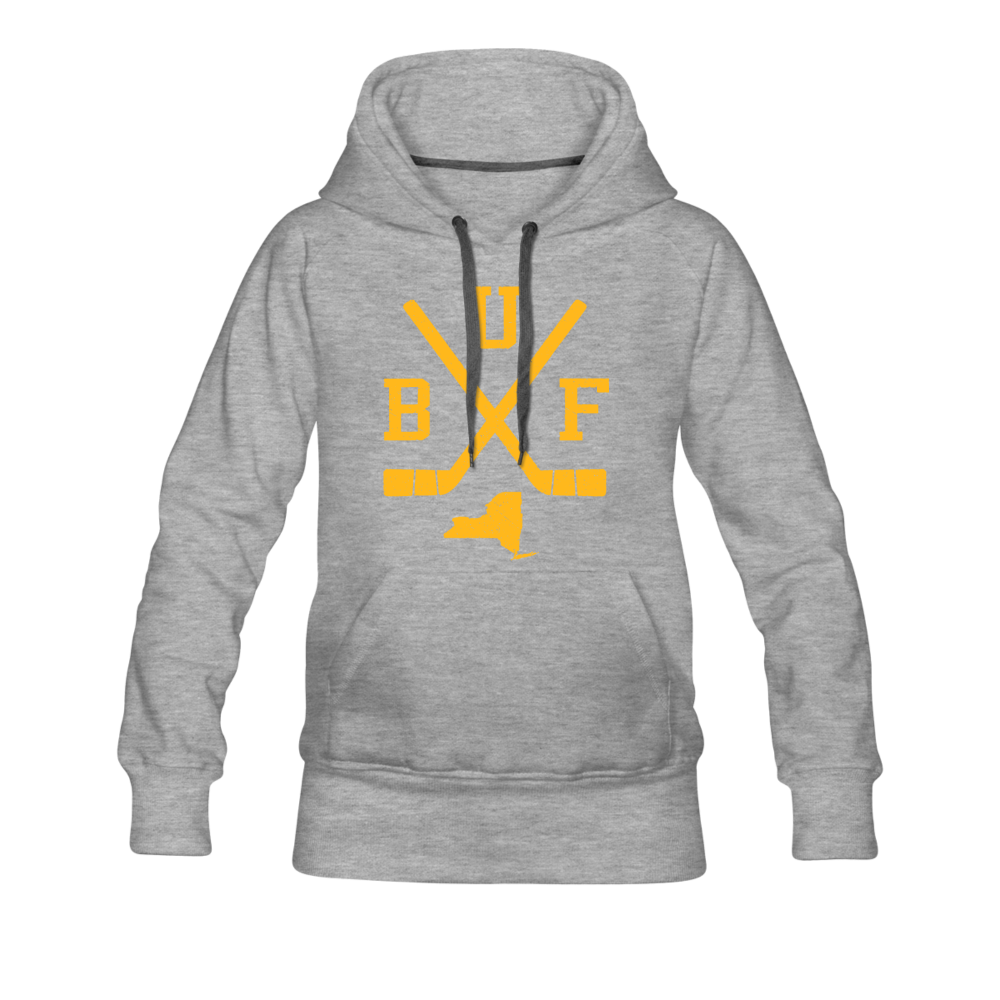 Women's BUF Hockey Premium Hoodie - heather gray