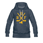 Women's BUF Hockey Premium Hoodie - heather denim