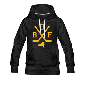 Women's BUF Hockey Premium Hoodie - charcoal gray