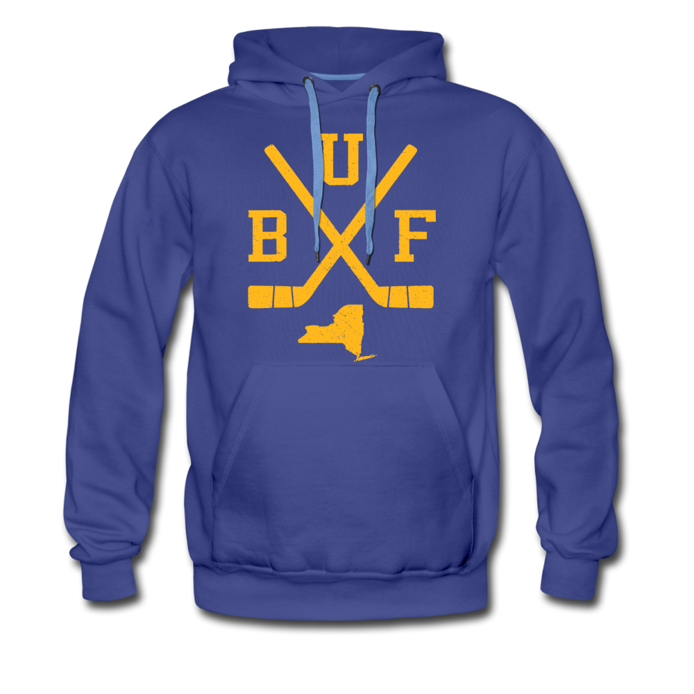 Men's BUF Hockey Premium Hoodie - royalblue