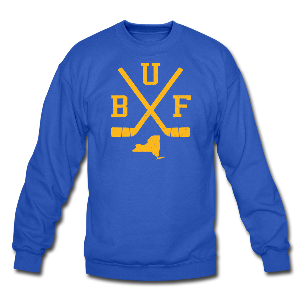 Unisex BUF Hockey Crewneck Sweatshirt - royal blue