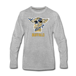 Men's Hockey Yoda Premium Long Sleeve T-Shirt - heather gray