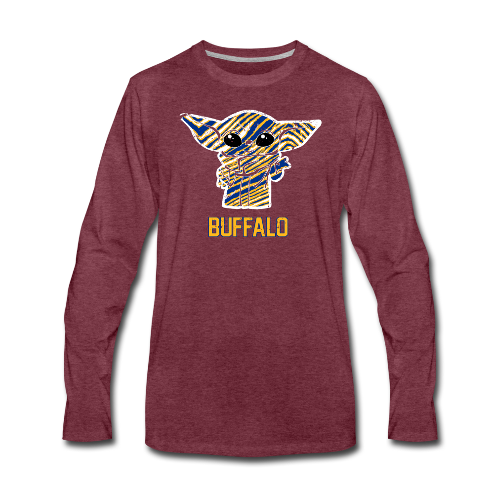 Men's Hockey Yoda Premium Long Sleeve T-Shirt - heather burgundy