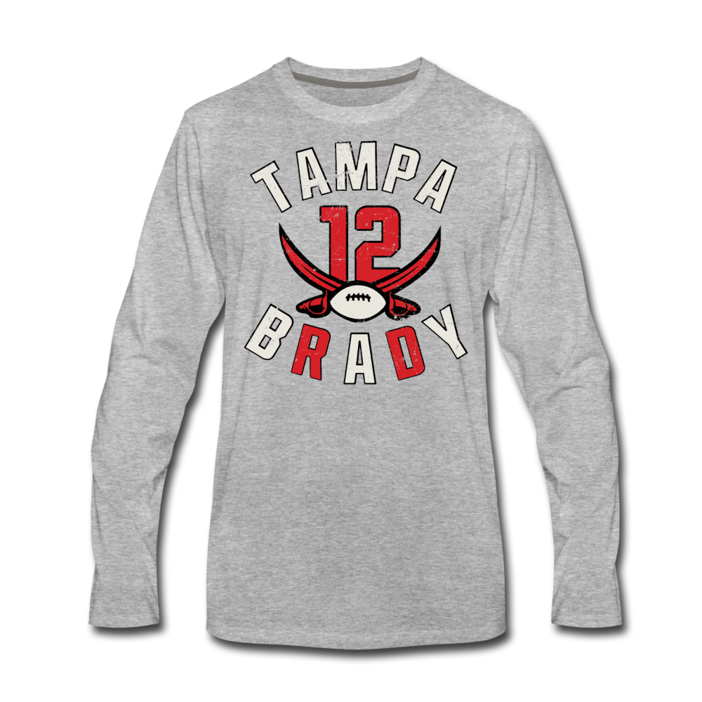 Men's Tampa Premium Long Sleeve T-Shirt - heather gray