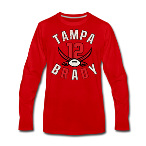 Men's Tampa Premium Long Sleeve T-Shirt - red